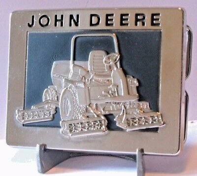 John Deere Five-Gang Rotary Mower Belt Buckle 1988 jd Lawn Golf Turf  Moline IL