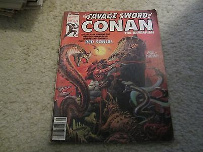 The Savage Sword Of Conan The Barbarian #29 Red Sonja Story!