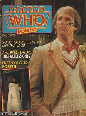 Doctor Who Monthly Issue 071 - Peter Davison Daleks Comic Strip Cybermen Posters