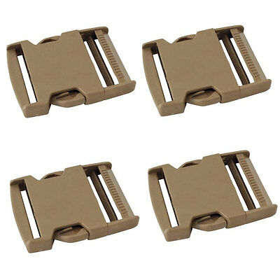 "4 x ITW Nexus 50mm / 2"" Side Release Buckle Tan 500 GhillieTex IRR ( Military"