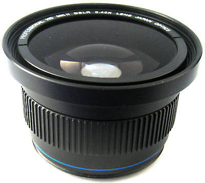 Pro Super HD Wide Fisheye Lens With Macro for Samsung NX30 (For 18-55mm Lens)