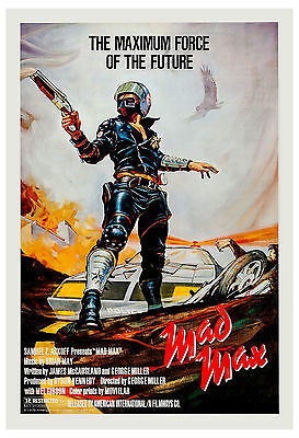 1980's Sci-Fi  * Mad Max *  Mel Gibson Movie Poster 1980