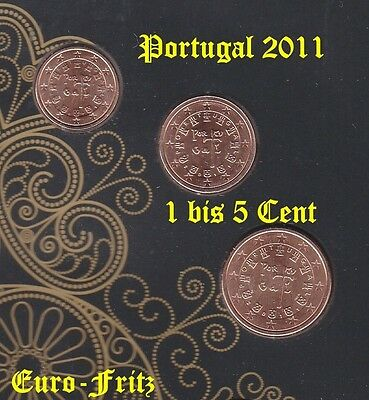 Portugal 2011 aus off. KMS 1 bis 5 Cent sehrselten ~**~