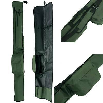 3 + 3 Eco Made Up Rod And Reel Holdall Bag Holds 6 12Ft Carp Fishing Tackle