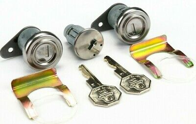 1965 Corvette Door Lock and Ignition Cylinder Set with Octagon Head Key