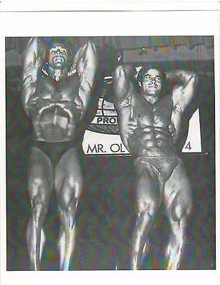 Frank Zane / Franco Columu Mr Olympia Contest Bodybuilding Muscle B+W Photo