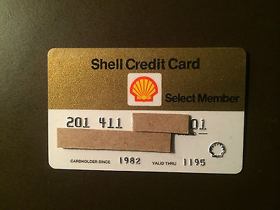 Shell Oil Company 1995 Vintage Collectors Credit Card
