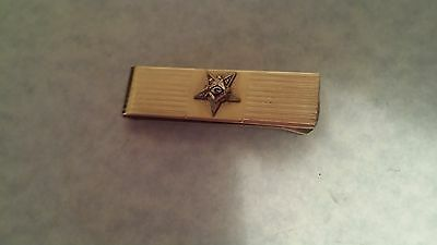 MASON MASONIC GOLDTONE TIE BAR VINTAGE TIE CLASP GOLD FILLED