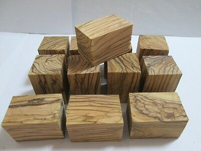 10 pcs Exotic Bethlehem OLIVE WOOD Bottle Stoppers Turning Blanks. W/ COLORS.pen