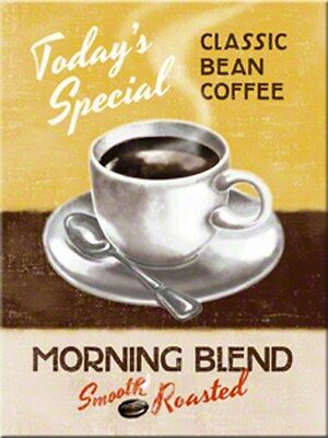 MAGNET 14285 - CLASSIC BEAN COFFEE - MORNING BLEND - 8 x 6 cm - NEU