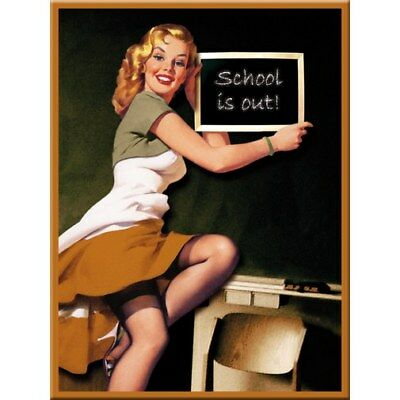 MAGNET 14172 - PIN UP GIRL SCHOOL - 8 x 6 cm - NEU