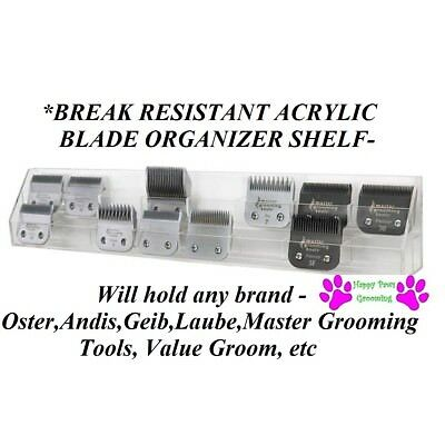 Pro Grooming Groomer Organizer Case Shelf for Oster,Andis,Wahl,Laube,Geib Blades