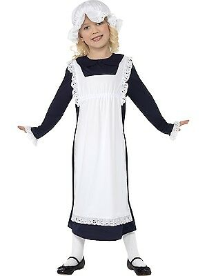 Victorian Poor Girl Millie Maid Apron & Mob Hat Costume Fancy Dress Party