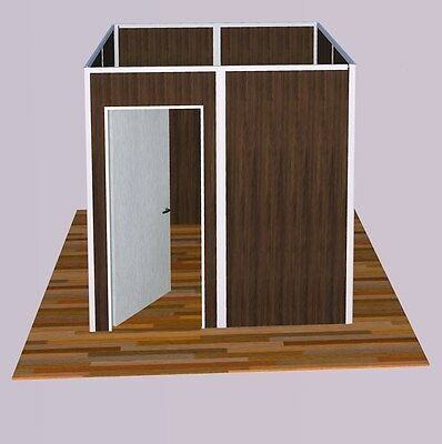 "Sunwalls Modular walls - 4 walled ""square"" shaped room of standard walls 8x8"