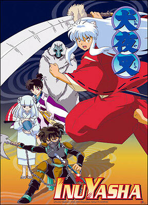 Inuyasha Inu-Yasha Group Anime Art Cloth Poster WALL SCROLL GE9449 Brand New!!!