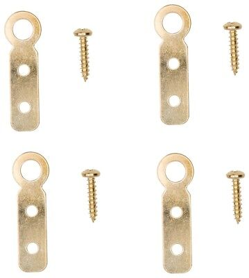 New Prosource 5589049 Pack 4 Brass Large Flat Ring Picture Hangers