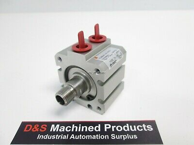 "New SMC NCQBWA106-025 Pneumatic Cylinder, DoubleActing, 1-1/16"" Bore, 1/4""Stroke"