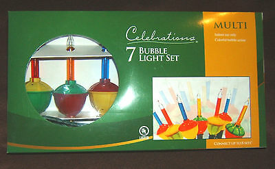 CHRISTMAS 7 PIECE SET BUBBLE LIGHTS C7 BULBS BRAND NEW
