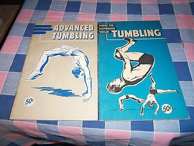 2 Booklets How to Improve Your Tumbling 49 Pgs Advanced Tumbling  41 Pages