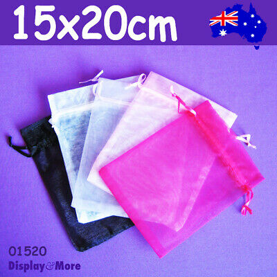 TOP Seller 100 LARGE Organza Jewellery Gift Pouch Bag | 15x20cm | AUSSIE Seller
