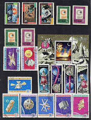 SPACE Thematic Stamp Collection UNMOUNTED MINT or FINE USED Ref:E257