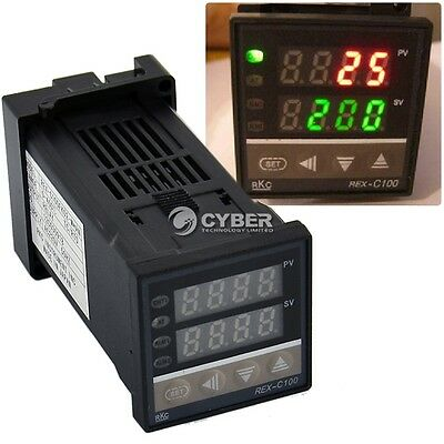 Dual PID F/C 400°C Digital Temperature Control Controller Thermocouple REX-C100