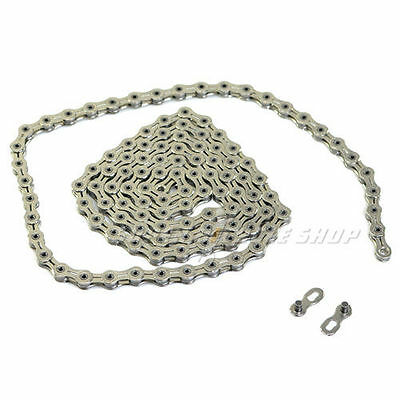 KMC X10SL Chain,116 link with Missing Link , Silver