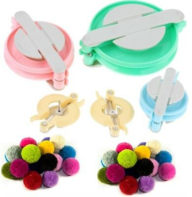 Deluxe 4 POM POM Bobble Maker Pattern Yarn Craft Knitting Tool loom Kit 31173