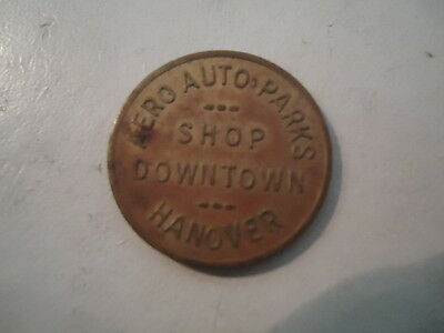 Aero Auto Parks Shop Downtown Hanover, PA Good For Parking Lot Meters Token