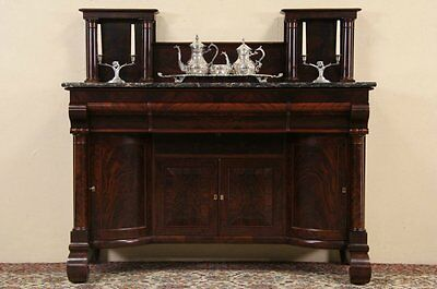 Empire 1840 Antique Marble Top Sideboard, Server or Back Bar
