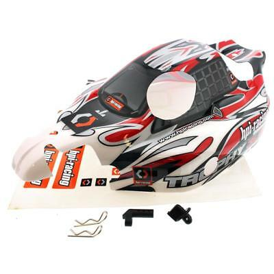 HPI 1/8 Trophy Buggy 3.5 * RED, BLACK & WHITE BODY, DECALS & MOUNTS Shell Cover