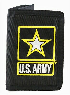 United States Army Logo II Trifold Wallet Black USA