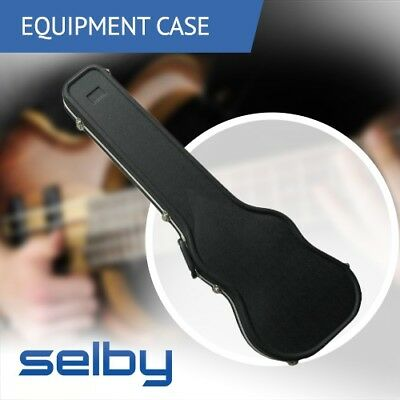 Key Lockable ABS Hard Guitar Case Black for Electric Bass Guitar