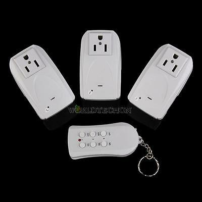 3-Pack Wireless Remote Control AC Power Outlet Plug Switch Socket