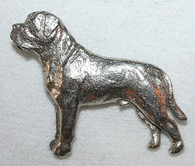 MASTIFF Dog Harris Fine PEWTER PIN Jewelry Art USA Made