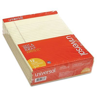 Universal Perforated 12 ct Writing Legal Letter Note Pads 8.5 x 11 Canary Yellow
