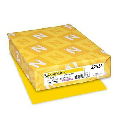 Wausau - Astrobrights Colored Copy Paper, 24lb, Solar Yellow - 500 Sheets Ream