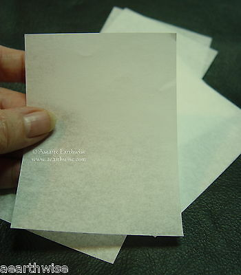 12 PACK OF 101x76 mm WHITE PARCHMENT SHEETS Wicca Pagan Witch Seals Spell Goth