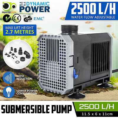 Submersible Aqua Aquarium Fountain Pond Marine Water Pump Fish Tank Air 2500L/H