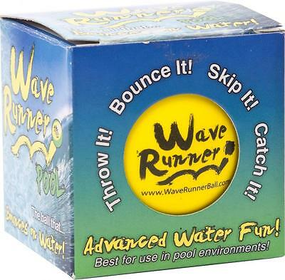 """Wave Runner 360378 Water Ball """"Pool"""" Bounces on Water Beach/Pool Toy Yellow New"""