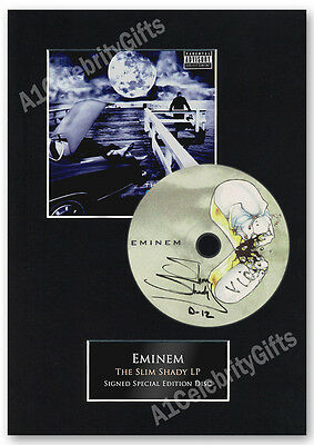 """Eminem Signed Special Edition CD Disc Display, """"The Slim Shady LP"""" Music"""