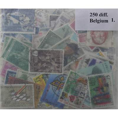 250 Belgium stamps in packet. (ww003a)