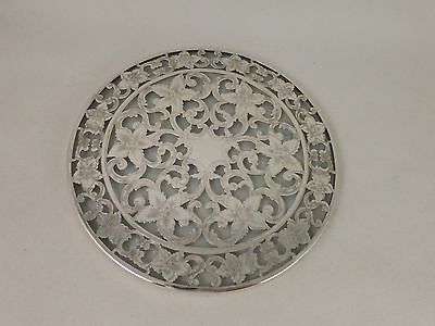Fancy Daffodil Sterling Overlay Trivet(s) - Webster - 6""