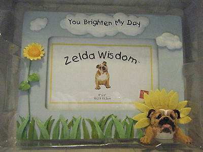 ZELDA WISDOM BULLDOG FRAME MINT IN BOX FULL OF SUNSHINE RUSS YOU BRIGHTEN MY DAY