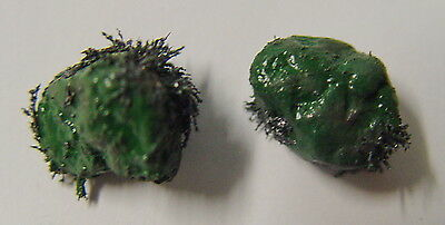 GREEN LODESTONES 1 x PAIR GENUINE & LIVE Wicca Witch Pagan Goth Spell PROSPERITY