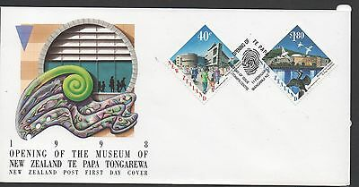 New Zealand 1998 FDC Opening of The Museum of New Zealand  set stamps