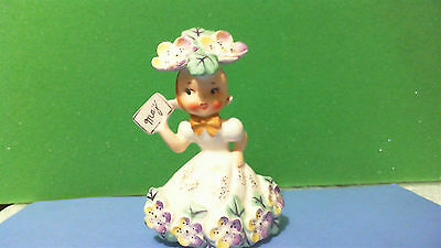 """VINTAGE """"FLOWER OF THE MONTH"""" MAY NAPCO FIGURINE - 1C1931 - 1956 VERY NICE"""