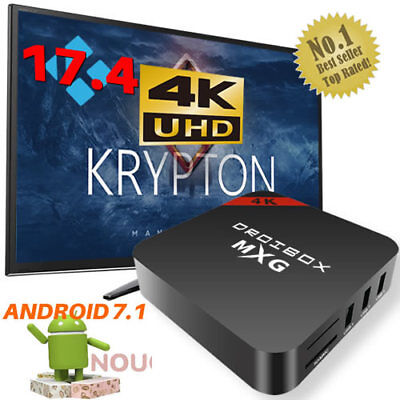 2017 MXG Quad Core Android TV Box 4K K 17.4 Ultra HD Pro-Media Player Streamer