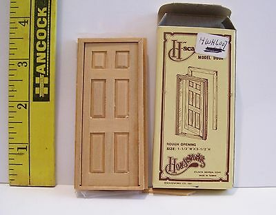 Dollhouse  Miniature Houseworks Vintage 1/24 Scale Model Door New In Box #6007