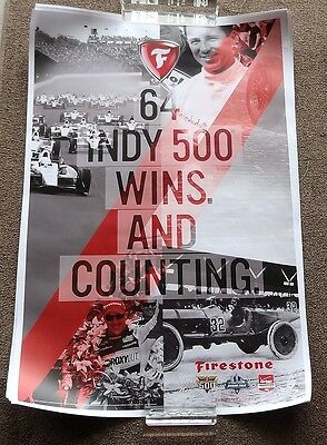 Indianapolis 500 Firestone Racing Poster 2014